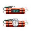 dynamite bomb with countdown clock and digital vector image vector image