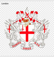 emblem of london vector image