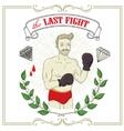 Fighter Tattoo-art design vector image