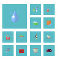 flat icons faucet sofa washcloth and other vector image vector image