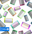 Flat smartphones pattern background vector image vector image