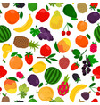 fruits tropical seamless pattern vector image