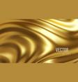 golden shiny liquid waves 3d realistic background vector image vector image
