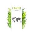 Green leaves Earth background vector image