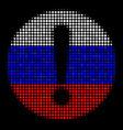 halftone russian problem icon vector image vector image