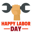 happy labor day logo icon flat style vector image