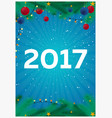happy new year 2017 background greeting card vector image