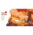 hello autumn banner design template vector image vector image