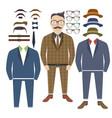 hipster style with elements of style vector image vector image