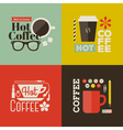Hot coffee Collection of design elements vector image vector image