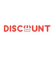 icon concept of discount word with 20 percent vector image
