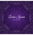 Invitation card with lace frame vector image vector image