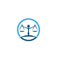 justice law logo template vector image vector image