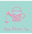 Love watering can with hearts inside Pink and blue vector image vector image
