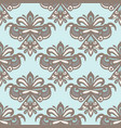 luxury damask flower seamless pattern vector image vector image