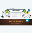 mass media and journalism work place vector image