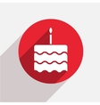 modern cake red circle icon vector image vector image