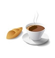 morning coffee and cake vector image