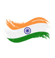 national flag of india designed using brush vector image