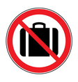 no suitcase sign vector image