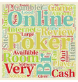 online poker room reviews text background vector image vector image