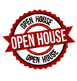 open house label or sticker vector image vector image