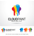 paint logo template vector image