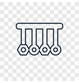 physics concept linear icon isolated on vector image