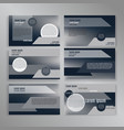 powerpoint slides presentation templates set can vector image vector image
