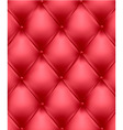 red genuine leather upholstery vector image