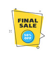 sale banner design template flat line geometric vector image vector image