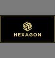 sb hexagon logo design inspiration vector image vector image