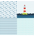 Sea patterns set vector image