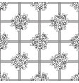 seamless lattice daisy flowers background vector image vector image