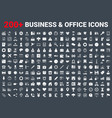 set business icons glyph set vector image vector image