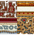Set of graphic seamless textures vector image vector image