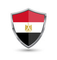 shield with flag of egypt isolated vector image vector image