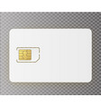 sim mobile cellular phone sim card chip vector image