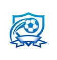 soccer ball shield badge icon vector image vector image