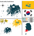 south jeolla province south korea vector image vector image