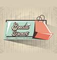 special discount label style retro vector image vector image
