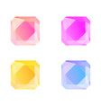 square gems set isolated on white vector image vector image