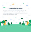 summer season in small town tiny village view vector image vector image