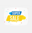 super sale discount blue and yellow tag flat vector image vector image