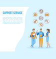support office web call help people filled vector image