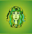 taurus girl portrait zodiac sign vector image vector image