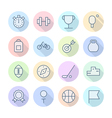 Thin Line Icons For Sport vector image vector image