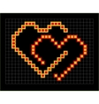 valentine coloured pixel hearts couple vector image vector image