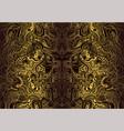 vintage bohemian ornamental background golden vector image vector image