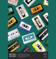 vintage retro cassette tape poster design vector image vector image